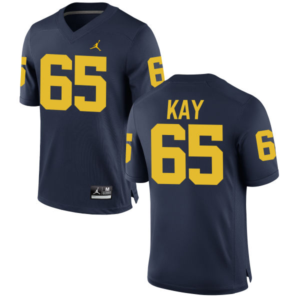 Men's Anthony Kay Michigan Wolverines Replica Navy Brand Jordan Football Jersey