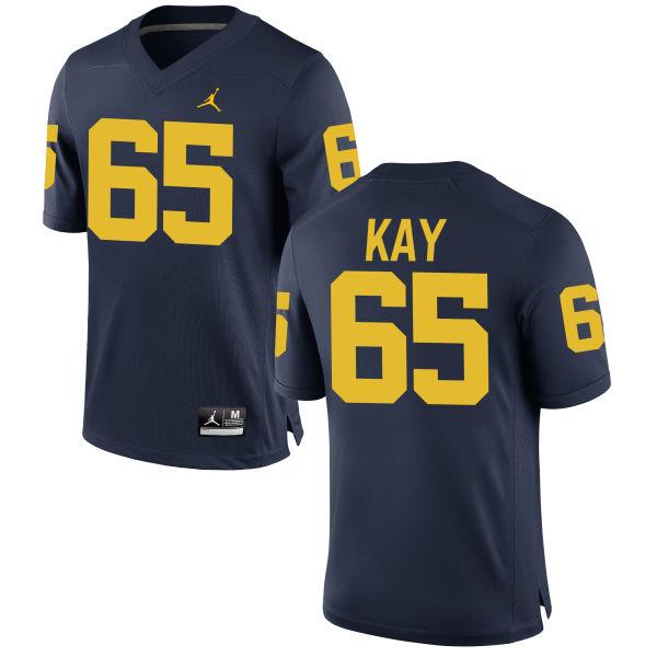 Men's Anthony Kay Michigan Wolverines Replica Navy Brand Jordan Football Jersey