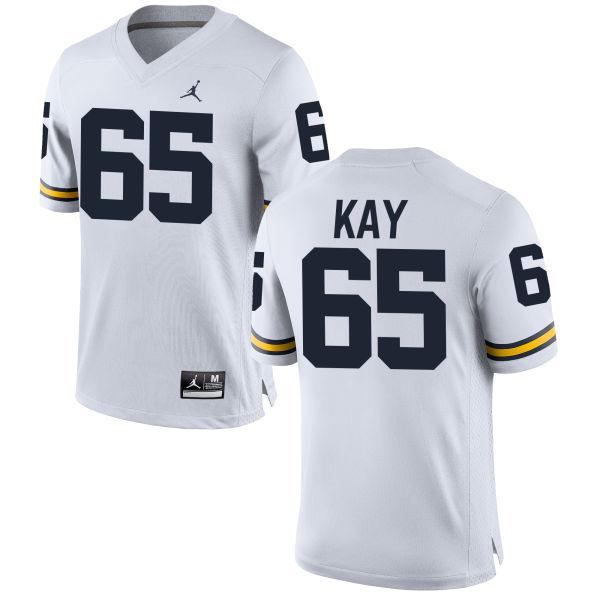 Men's Anthony Kay Michigan Wolverines Replica White Brand Jordan Football Jersey