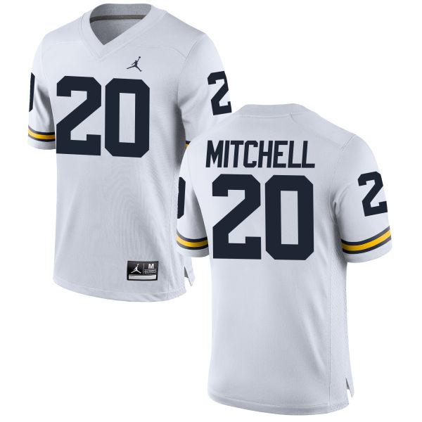 Men's Matt Mitchell Michigan Wolverines Replica White Brand Jordan Football Jersey