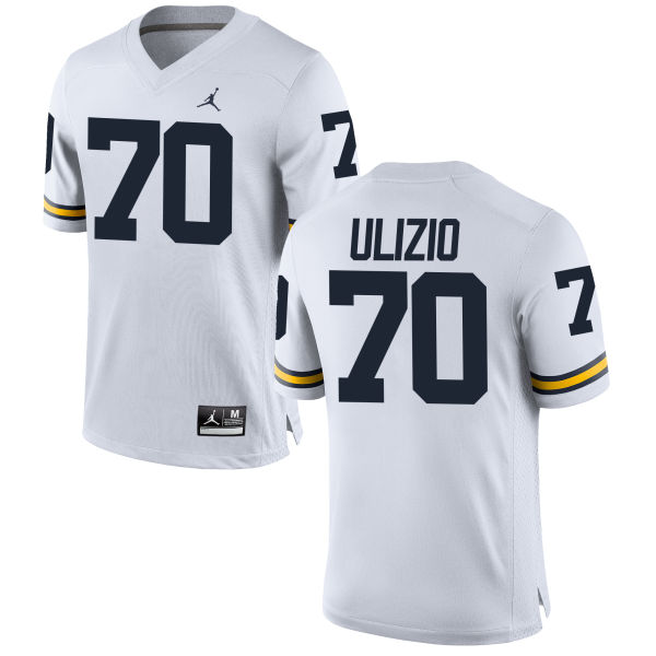 Men's Nolan Ulizio Michigan Wolverines Replica White Brand Jordan Football Jersey