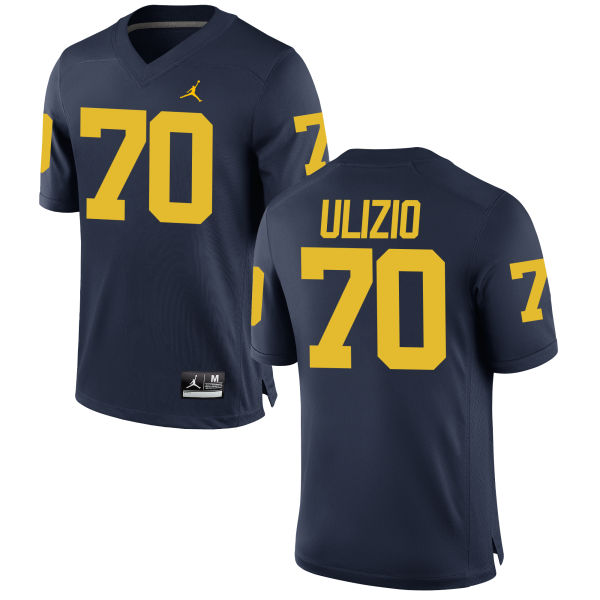 Men's Nolan Ulizio Michigan Wolverines Authentic Navy Brand Jordan Football Jersey