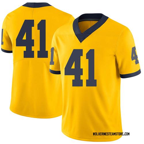 Men's Abe Jaafar Michigan Wolverines Limited Brand Jordan Maize Football College Jersey