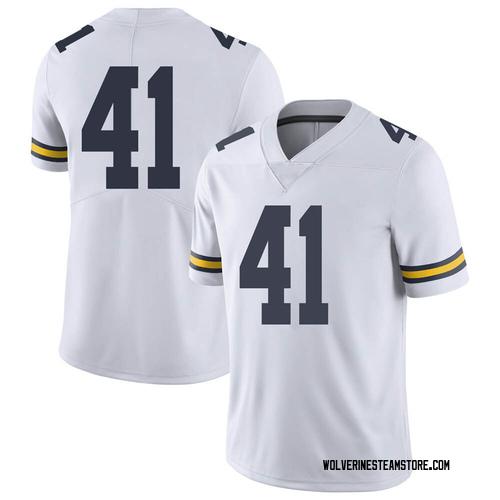 Men's Abe Jaafar Michigan Wolverines Limited White Brand Jordan Football College Jersey