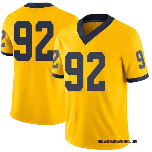 Men's Adam Culp Michigan Wolverines Limited Brand Jordan Maize Football College Jersey