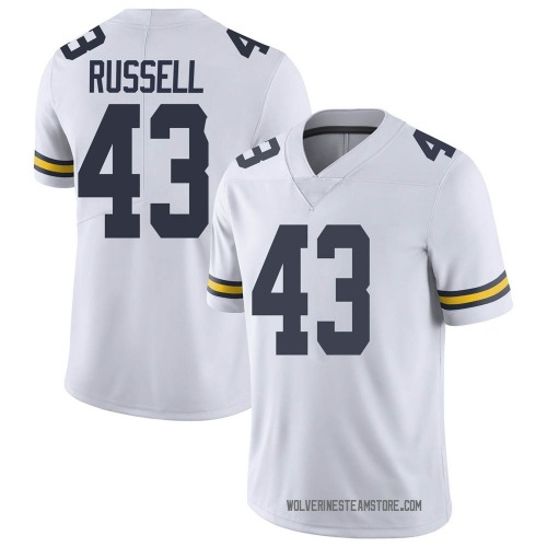 Men's Andrew Russell Michigan Wolverines Limited White Brand Jordan Football College Jersey