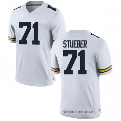 Men's Andrew Stueber Michigan Wolverines Game White Brand Jordan Football College Jersey