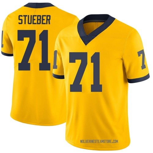 Men's Andrew Stueber Michigan Wolverines Limited Brand Jordan Maize Football College Jersey
