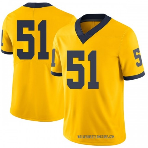 Men's Austin Davis Michigan Wolverines Limited Brand Jordan Maize Football College Jersey