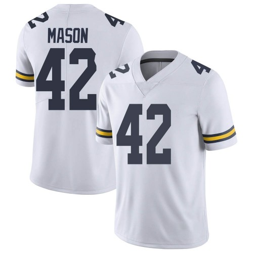 Men's Ben Mason Michigan Wolverines Limited White Brand Jordan Football College Jersey