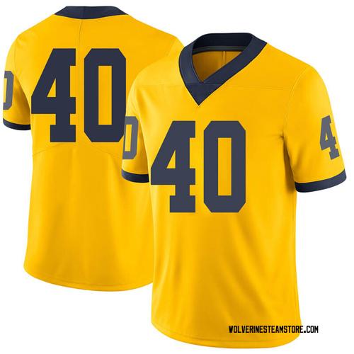 Men's Ben VanSumeren Michigan Wolverines Limited Brand Jordan Maize Football College Jersey