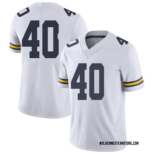 Men's Ben VanSumeren Michigan Wolverines Limited White Brand Jordan Football College Jersey