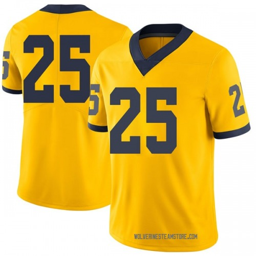 Men's Benjamin St-Juste Michigan Wolverines Limited Brand Jordan Maize Football College Jersey