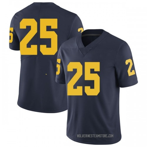 Men's Benjamin St-Juste Michigan Wolverines Limited Navy Brand Jordan Football College Jersey