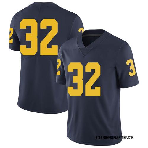 Men's Berkley Edwards Michigan Wolverines Limited Navy Brand Jordan Football College Jersey