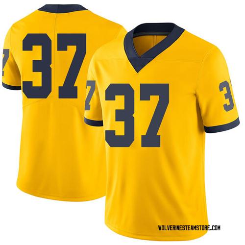 Men's Bradford Jones Michigan Wolverines Limited Brand Jordan Maize Football College Jersey