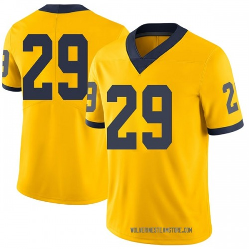 Men's Brendan White Michigan Wolverines Limited White Brand Jordan Maize Football College Jersey