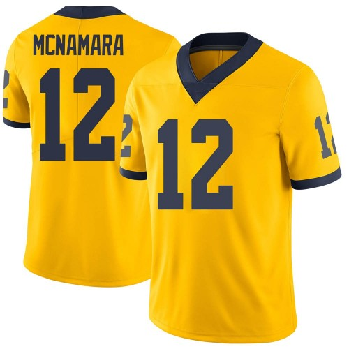 Men's Cade McNamara Michigan Wolverines Limited Brand Jordan Maize Football College Jersey