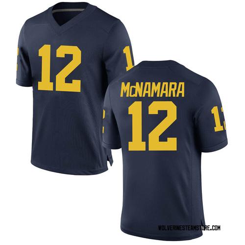 Men's Cade McNamara Michigan Wolverines Replica Navy Brand Jordan Football College Jersey
