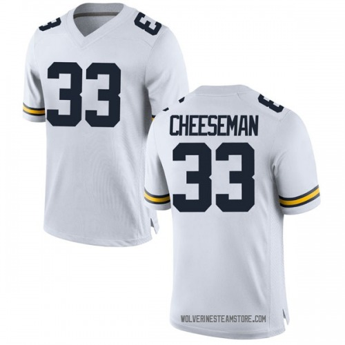 Men's Camaron Cheeseman Michigan Wolverines Replica White Brand Jordan Football College Jersey