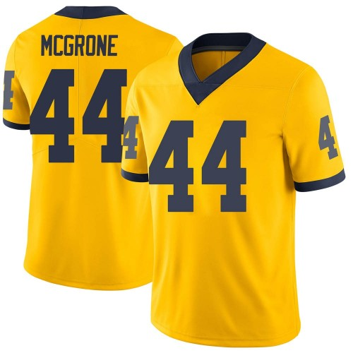 Men's Cameron McGrone Michigan Wolverines Limited Brand Jordan Maize Football College Jersey
