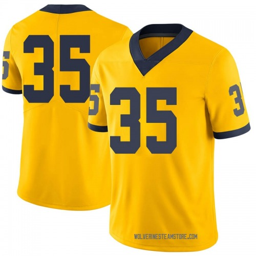 Men's Casey Hughes Michigan Wolverines Limited Brand Jordan Maize Football College Jersey