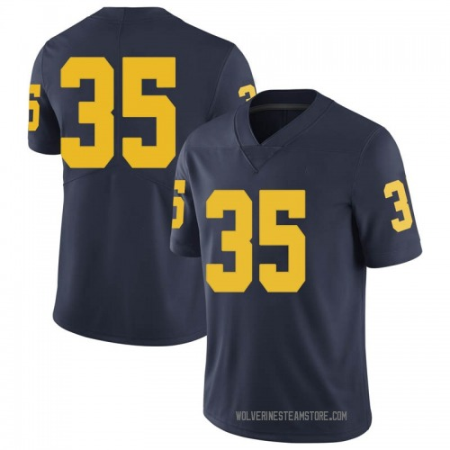 Men's Casey Hughes Michigan Wolverines Limited Navy Brand Jordan Football College Jersey