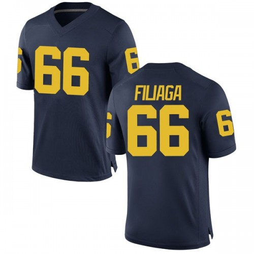 Men's Chuck Filiaga Michigan Wolverines Replica Navy Brand Jordan Football College Jersey