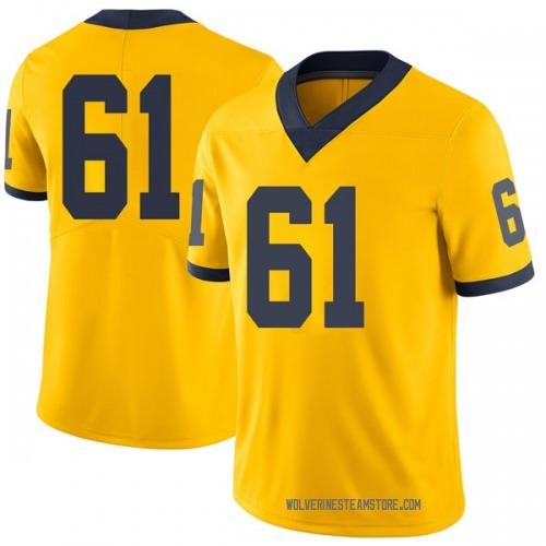 Men's Dan Jokisch Michigan Wolverines Limited Brand Jordan Maize Football College Jersey