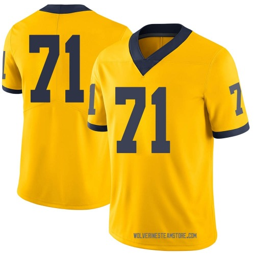 Men's David Ojabo Michigan Wolverines Limited Brand Jordan Maize Football College Jersey