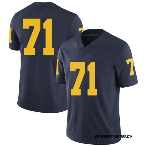 Men's David Ojabo Michigan Wolverines Limited Navy Brand Jordan Football College Jersey