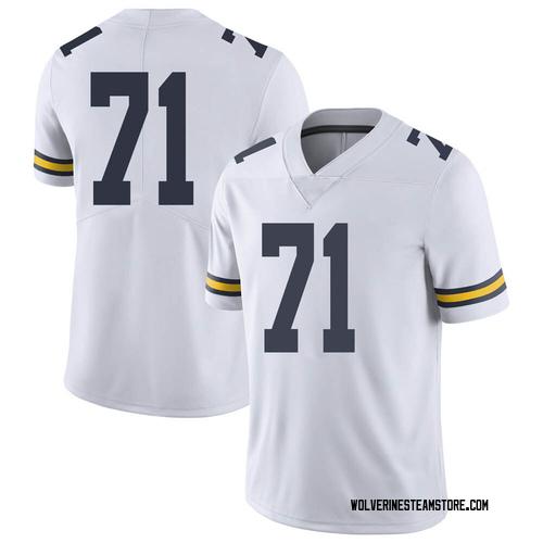 Men's David Ojabo Michigan Wolverines Limited White Brand Jordan Football College Jersey
