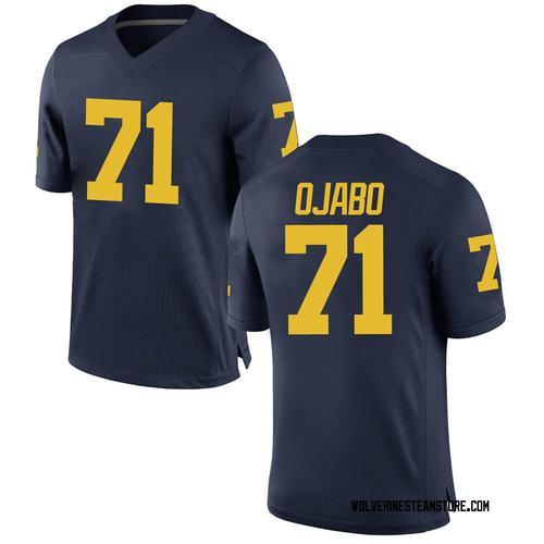 Men's David Ojabo Michigan Wolverines Replica Navy Brand Jordan Football College Jersey
