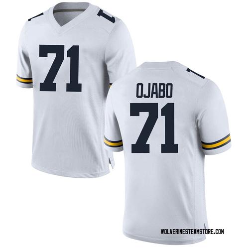Men's David Ojabo Michigan Wolverines Replica White Brand Jordan Football College Jersey