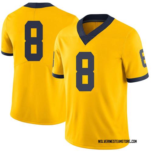Men's Devin Gil Michigan Wolverines Limited Brand Jordan Maize Football College Jersey
