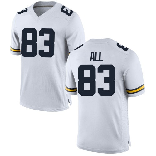 Men's Erick All Michigan Wolverines Game White Brand Jordan Football College Jersey