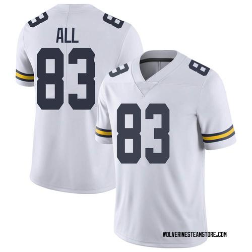 Men's Erick All Michigan Wolverines Limited White Brand Jordan Football College Jersey
