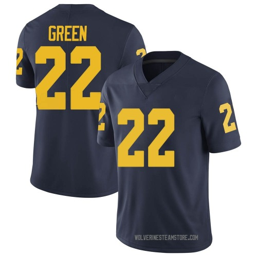 Men's Gemon Green Michigan Wolverines Limited Green Brand Jordan Navy Football College Jersey