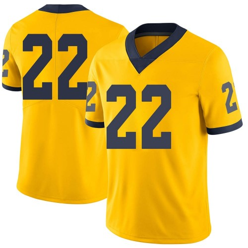 Men's George Johnson Michigan Wolverines Limited Brand Jordan Maize Football College Jersey