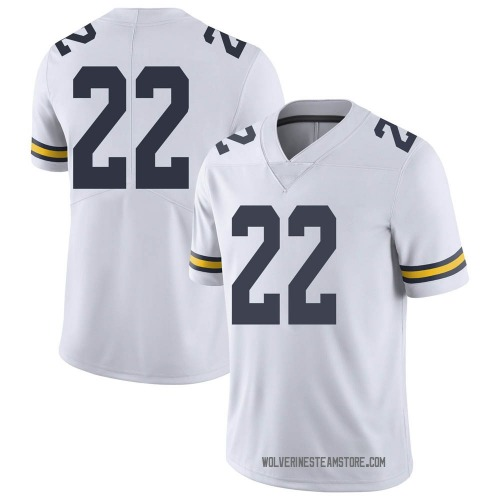 Men's George Johnson Michigan Wolverines Limited White Brand Jordan Football College Jersey