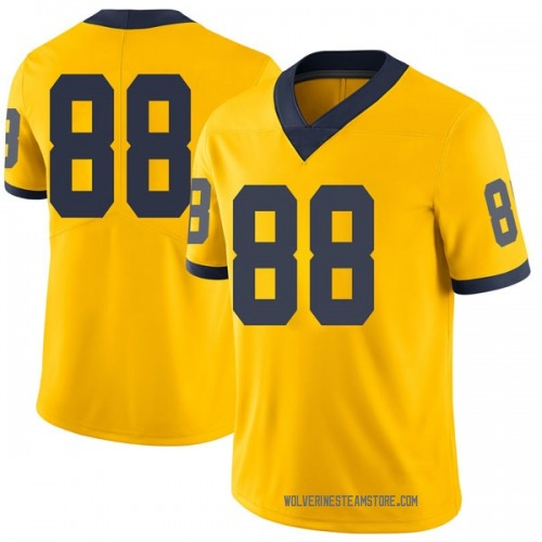 Men's Grant Perry Michigan Wolverines Limited Brand Jordan Maize Football College Jersey