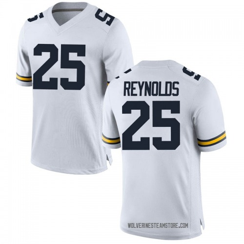 Men's Hunter Reynolds Michigan Wolverines Game White Brand Jordan Football College Jersey