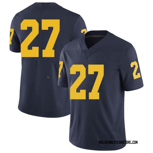 Men's Hunter Reynolds Michigan Wolverines Limited Navy Brand Jordan Football College Jersey