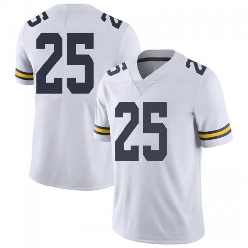 Men's Hunter Reynolds Michigan Wolverines Limited White Brand Jordan Football College Jersey