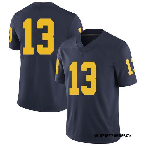 Men's Ignas Brazdeikis Michigan Wolverines Limited Navy Brand Jordan Football College Jersey