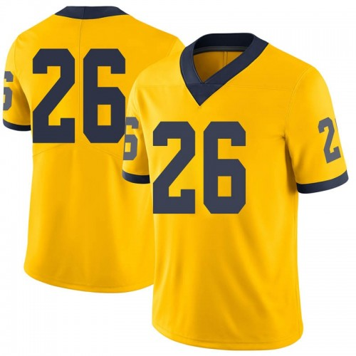 Men's J'Marick Woods Michigan Wolverines Limited Brand Jordan Maize Football College Jersey