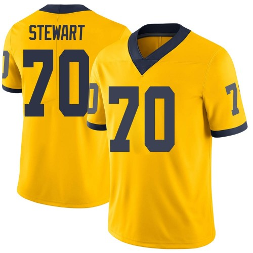 Men's Jack Stewart Michigan Wolverines Limited Brand Jordan Maize Football College Jersey