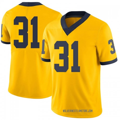 Men's Jack Young Michigan Wolverines Limited Brand Jordan Maize Football College Jersey