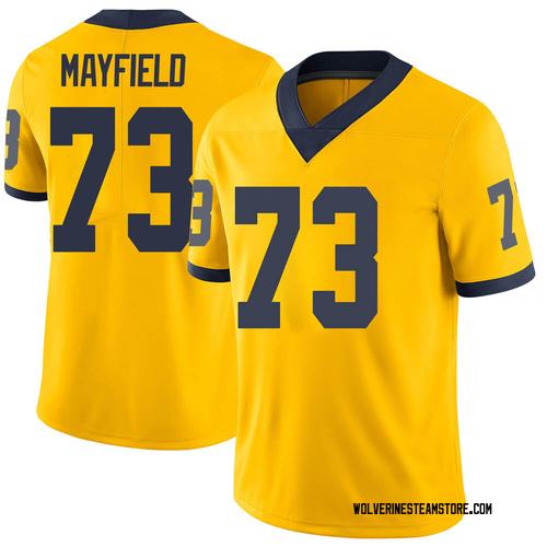 Men's Jalen Mayfield Michigan Wolverines Limited Brand Jordan Maize Football College Jersey