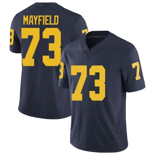 Men's Jalen Mayfield Michigan Wolverines Limited Navy Brand Jordan Football College Jersey